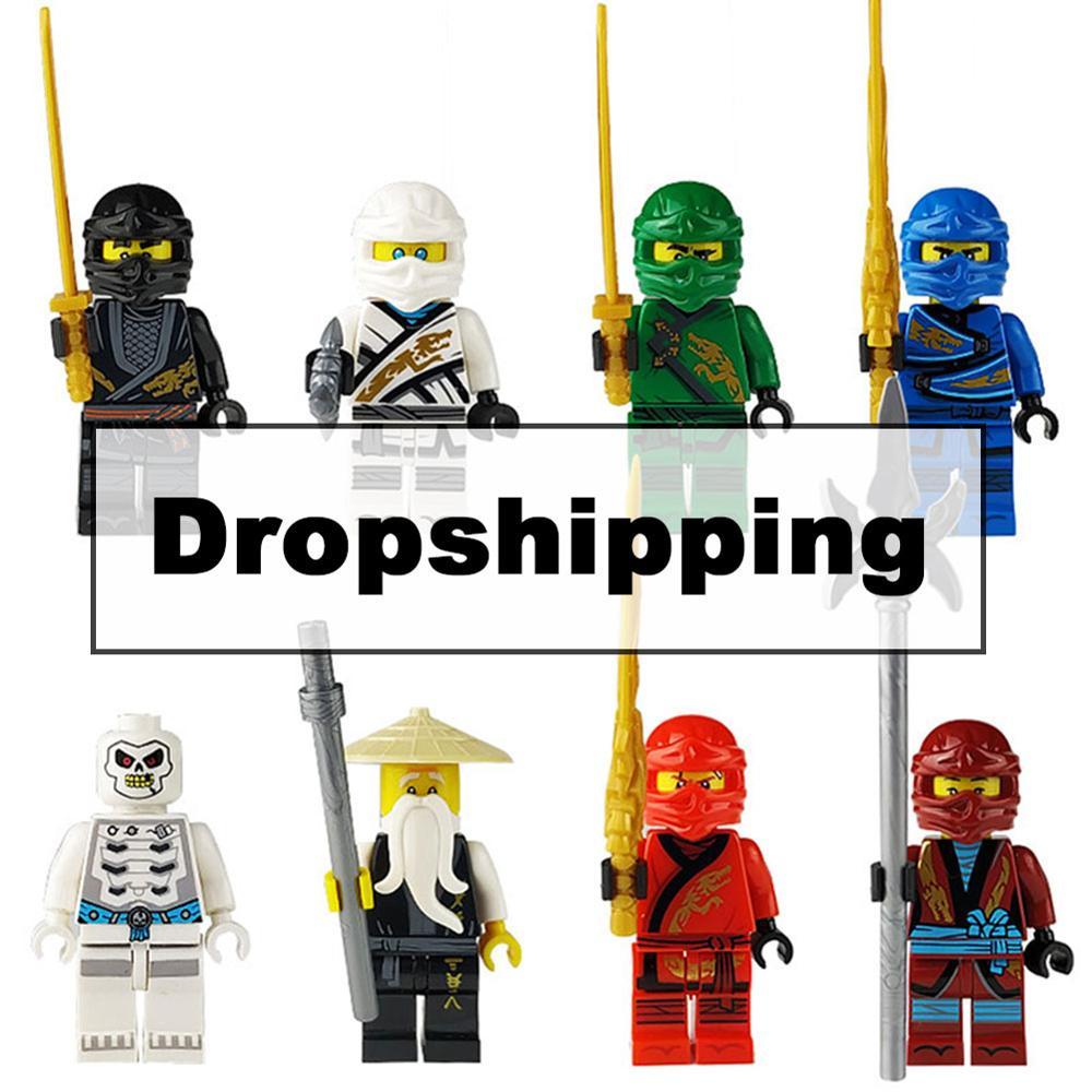 8pcs Ninja Kai Cole Jay Zane Lloyd Nya Mini Action Figures Building Blocks Kids Toy Gift Compatible Legoingly Ninjagoed For Kids