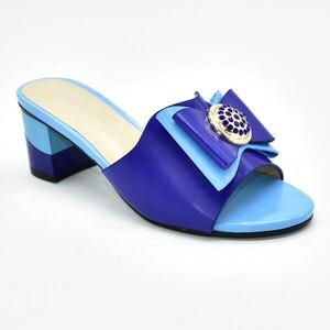 Image 5 - جديد فوشيا اللون أحذية الزفاف للنساء رائجة البيع النمط الإيطالي أحذية خفيفة المرأة الأفريقية النعال صنادل سيدات بكعب