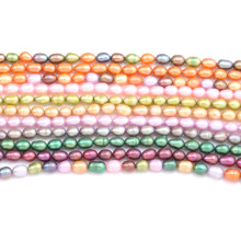 High Grade Freshwater Pearl 36cm Rice Shape Punch Natural Loose Beads for Jewelry Making Supplies Fit Necklace Bracelet