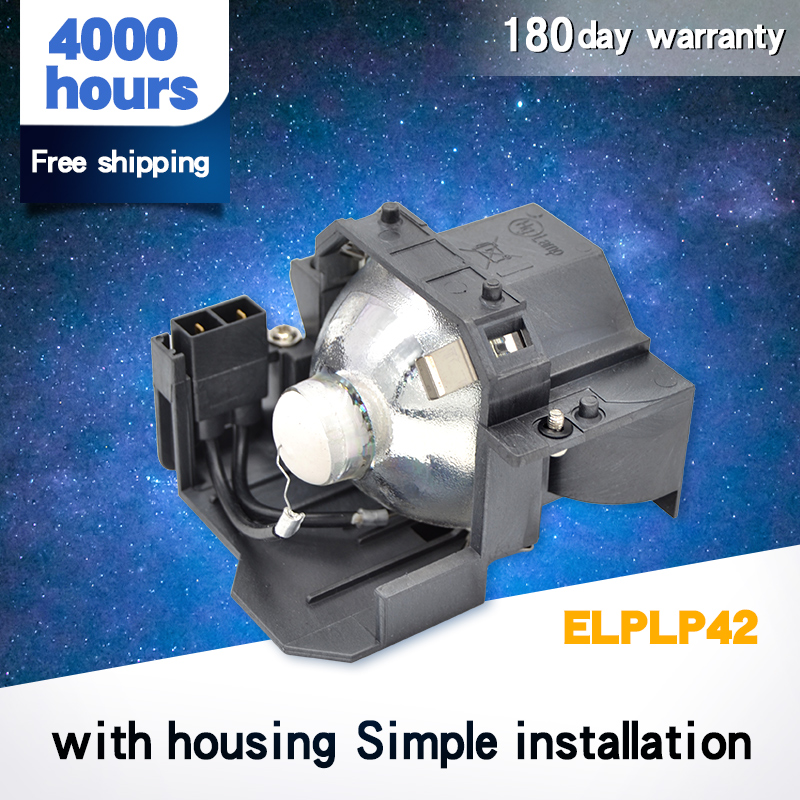 Free Shipping High Quality ELPLP42 / V13H010L42 Projector Lamp For EMP-83 / EMP-280