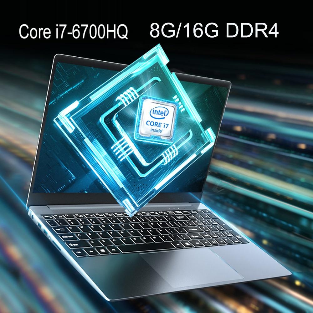 Core i7 ноутбук 15,6 дюймов с 8G / 16G DDR4 1 ТБ 128G 256G 512G Тетрадь компьютерных игр Ноутбуки с подсветкой клавиатуры IPS Экран