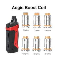 Vmiss 5pcs Aegis Boost Coil 0.4ohm and 0.6ohm Head RBA MTL Mesh Coils Vape for Electronic Cigarette GV Boost Pod Cartridge