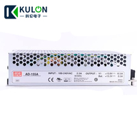 Mean well AD 155 Uninterrupted Security SMPS Switching Power Supply UPS AC DC Transformer Dual Output 0.2A 5A 10.5A 156.5W
