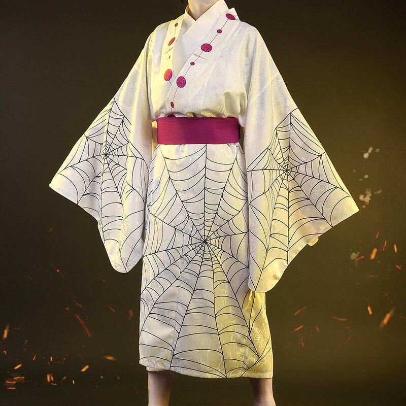 Hot New Anime Demon Slayer: Kimetsu no Yaiba Cosplay Costume Rui Cos Kimono Dress H