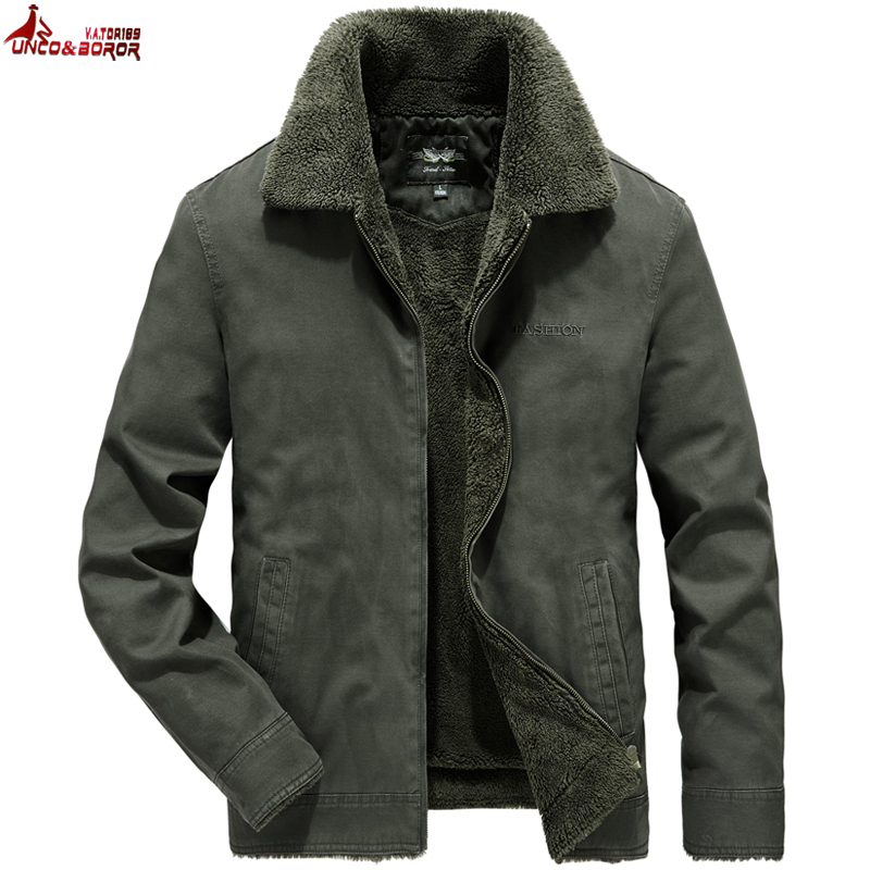 Winter Jacket Men 100% Cotton Military Bomber Jackets Jaqueta Masculina Men`s Windbreaker Thick Fleece Jacket Male Parka Coats