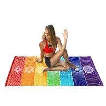 Пляжный коврик Мандала одеяло полосатое полотенце Йога дизайнерский половик индийское одеяло гобелен Новинка