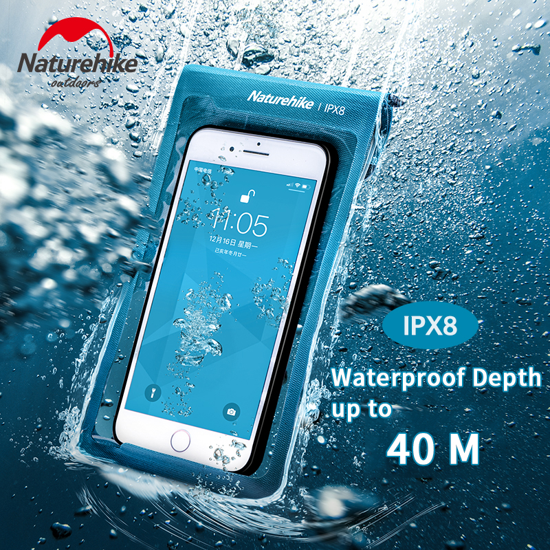 Naturehike Mobile Phone Waterproof Bag TPU High Definition Bag Diving 40M Sealed Membrane Phone Cover Touch IPX8 Waterproof