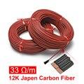 100 метров 33 Ом/м 3 мм Улучшенная силиконовая резиновая оболочка из углеродного волокна нагревательный провод кабель для теплого пола