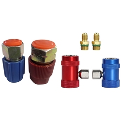 Retrofit 7/16 to 3/8 Conversion Adapter R12 to R134A & Car Auto AC High / Low Side R1234Yf Quick Couplers Adapters
