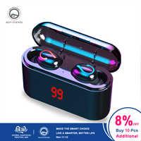 TWS 8D drahtlose kopfhörer Bluetooth 5,0 kopfhörer Wasserdichte Sport earbuds 2600mAh Lade box IPX7 Wahre bluetooth kopfhörer