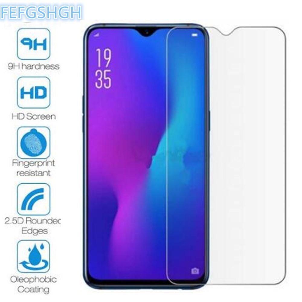 2PCS Tempered Glass For Oppo A1K A5S A7n A9 AX5s K3 F11 Pro Realme X Lite 3 Pro C2 Screen Protector Cover Protective Glass Film