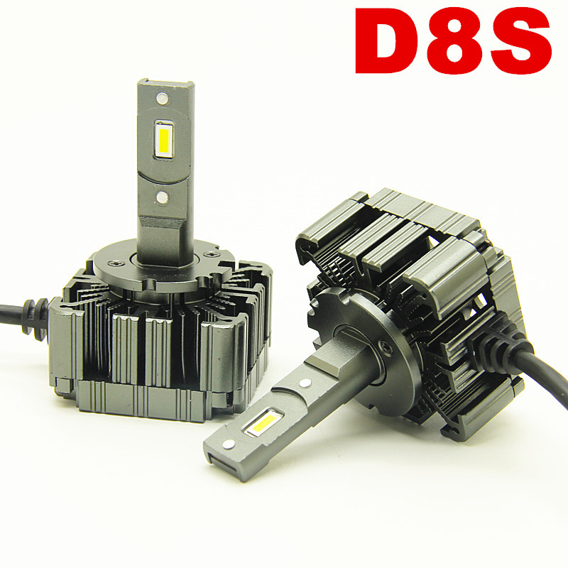12v Car LED Headlight bulbs D8S 6000k 55wW Replacement of OEM HID Bulb plug and play D8s