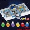6in1 2021 Новый Amongs база серии игр цифры с космическим звездным принтом Alien игрушки, детские мягкие игрушки строительные блоки классическая мод...