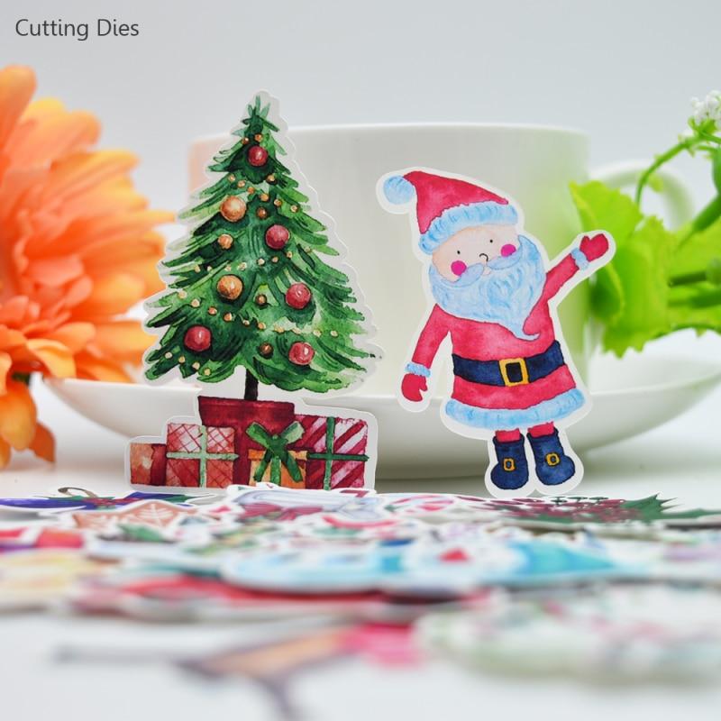 33pcs//set Christmas Sticker Santa Claus Snowman Tree DIY Scrapbooking Xmas Craft