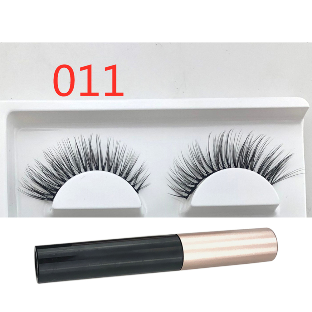 1 Pair Magnetic Eyeliner with Magnetic False Eyelashes Kit No Glue False Lashes Waterproof Liquid Eyeliner Long Lasting in False Eyelashes from Beauty Health