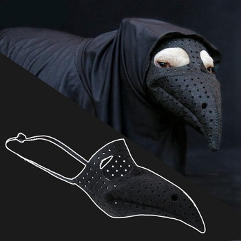 Dog Muzzle Horror Bird Beak Mouth Mask Dog Silicone Luminous Stop Bark Muzzle Halloween Costume Dog Anti-bite Safety Masks