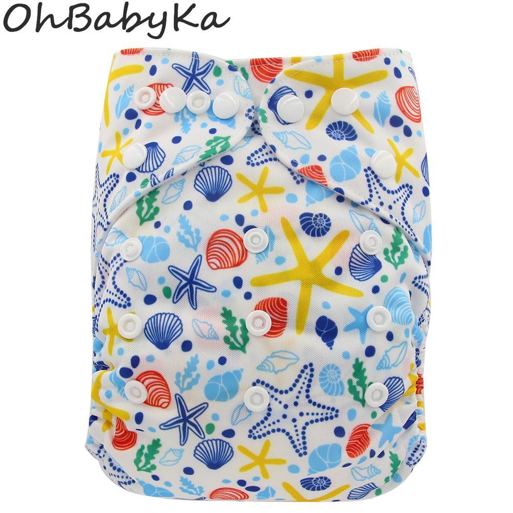 Breathable Cloth Pocket Diapers Ohbabyka Baby Cloth Diaper Covers For Boys Girls Reusable Fraldas Couche Lavable Training Pants