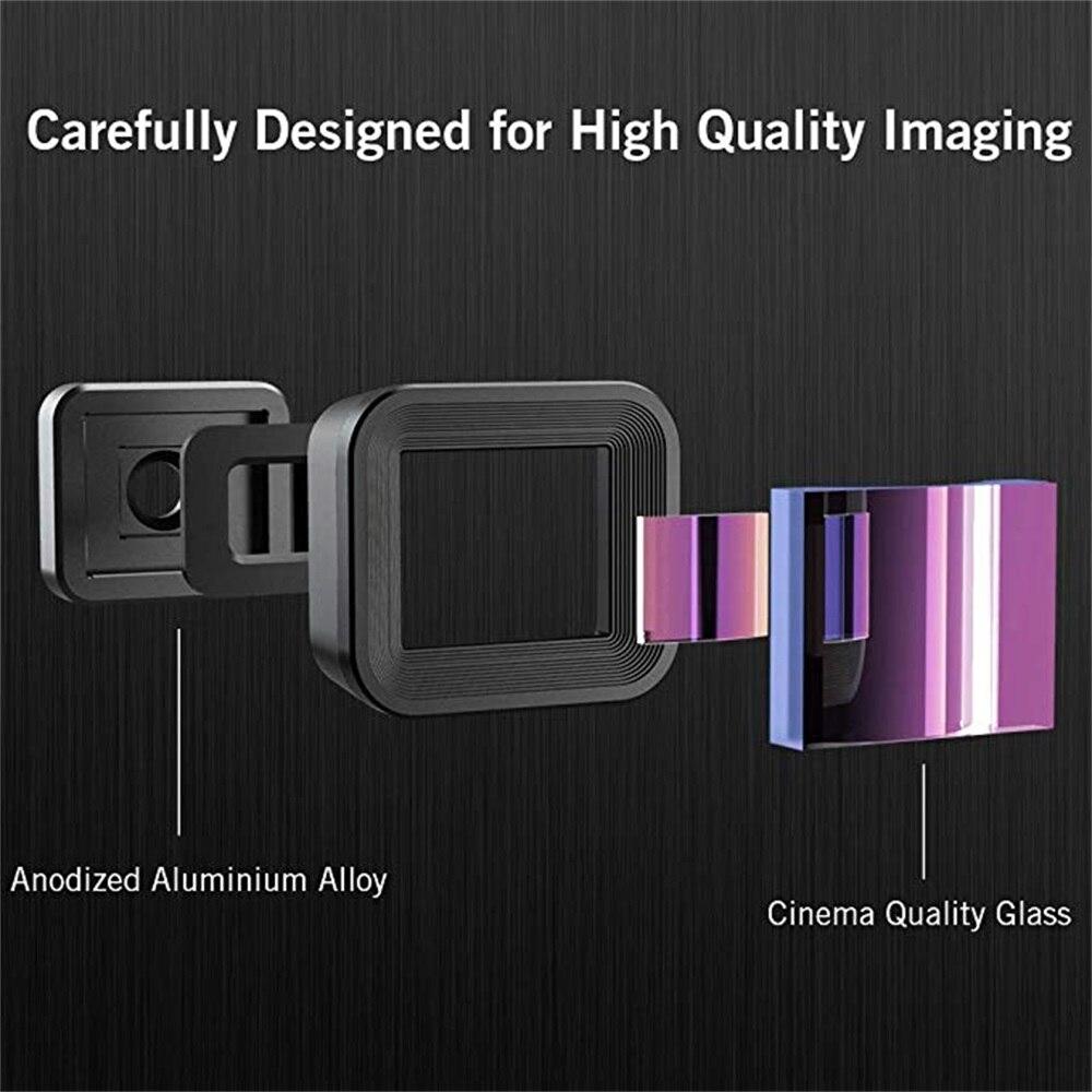 Lente anamórfica APEXEL 1.3x con Clip de montaje en C Universal lente de cámara de pantalla ancha - 2