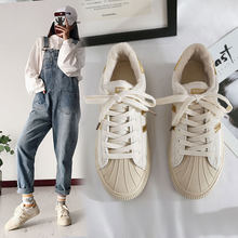 Small White Shoes Woman Autumn 2019 All-match Hong Kong Flavor Student Repair Lifetime Bottom Shell Motion Skate Shoes(China)