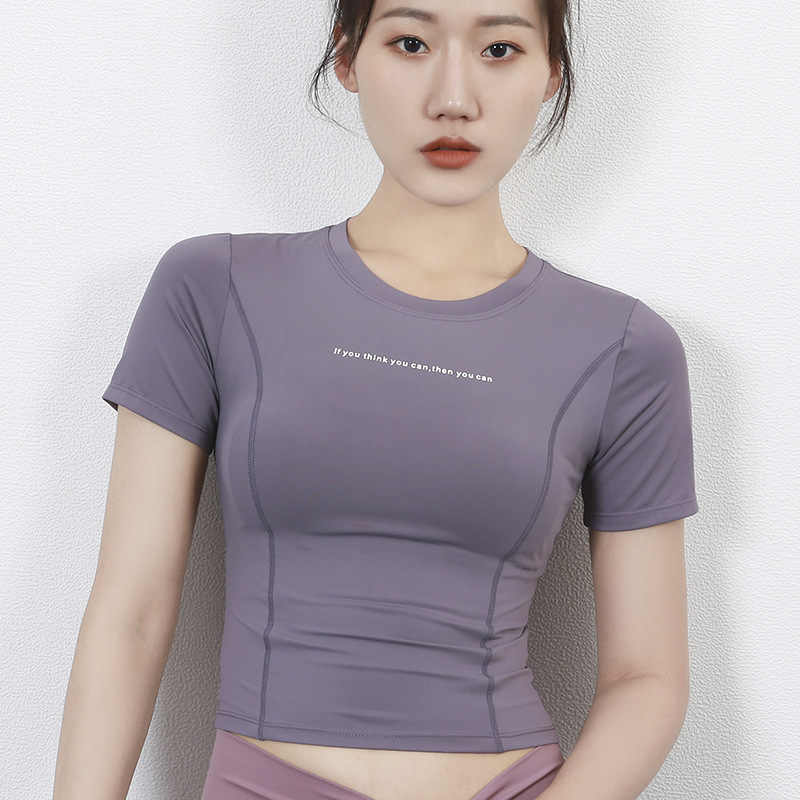 Vrouwen Yoga Top Sport Shirt Workout Tops Voor Vrouwen Workout Shirt Gym Crop Top Vrouwen T-shirt Womens Fitness Tops corp Yoga Shirt