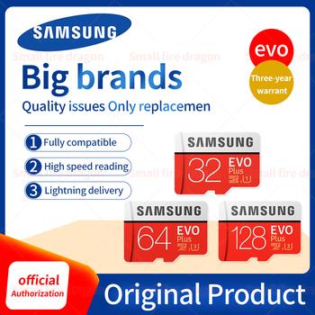 Oryginalna karta pamięci SAMSUNG EVO Plus 64GB U3 EVO + 128GB 256GB karta klasy 10 karta micro sd 32GB 16GB karta microSD UHS-I U1 TF tanie i dobre opinie Class 10 Tf micro sd card 16GB 32GB 64GB 128GB 256GB (available capacity approximately 90 -93 ) 95MB S(Read) C10(Write) U1 microSDHC