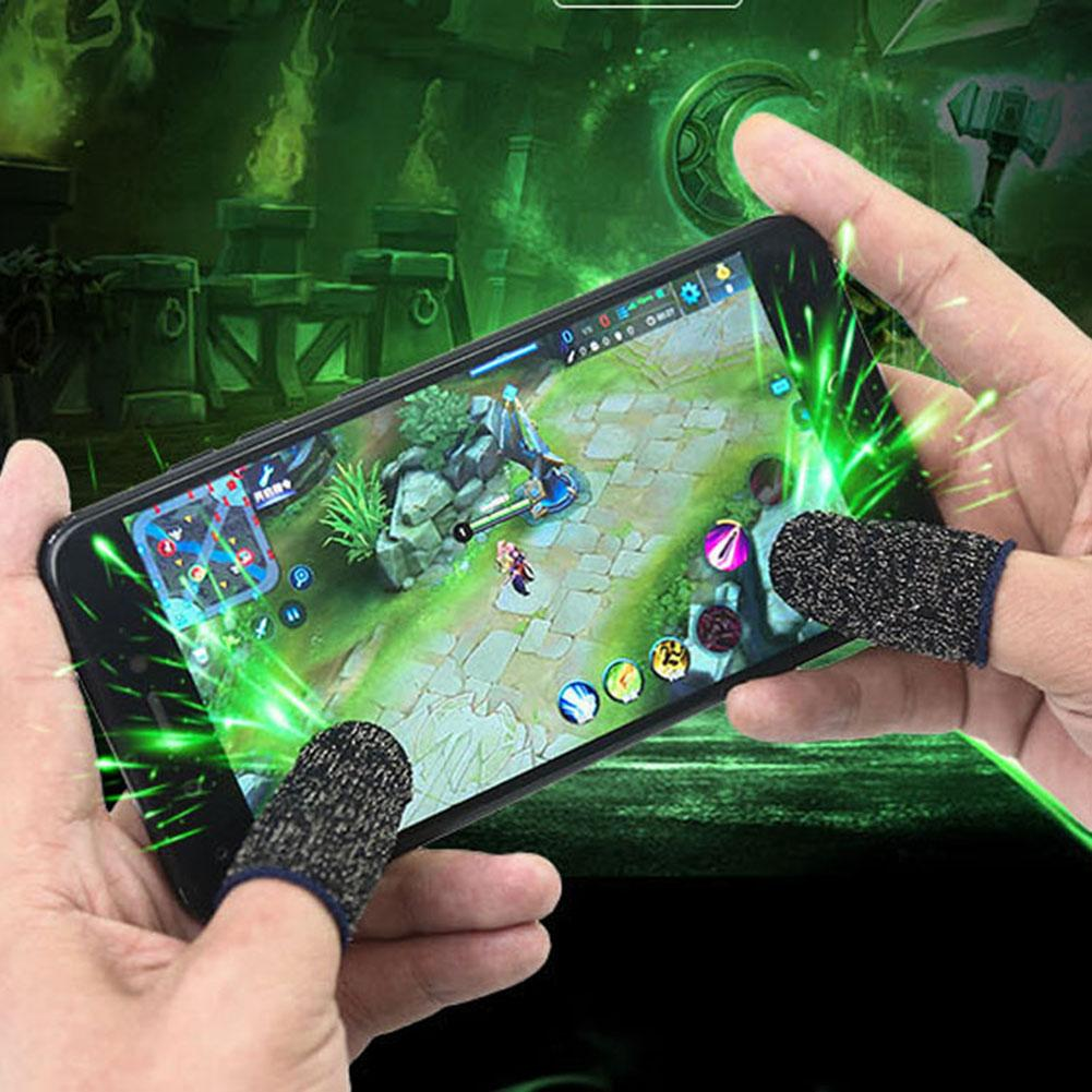 Breathable Non-Slip Mobile Phone Game Touch Screen Finger Sleeve Controller Touch Screen Sweatproof Finger  Sleeve