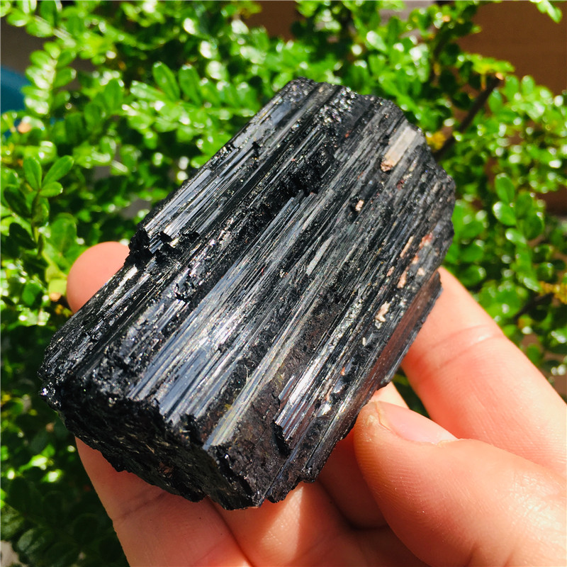 AAA 60-200g NATURAL Black TOURMALINE CRYSTAL STONE ORIGINAL 1pc