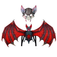 Fantasy Halloween Cosplay Wings And Mask Glasses Kit With Elastic Straps Vampire Bat Cosplay Costume Accessories Adults Children(China)