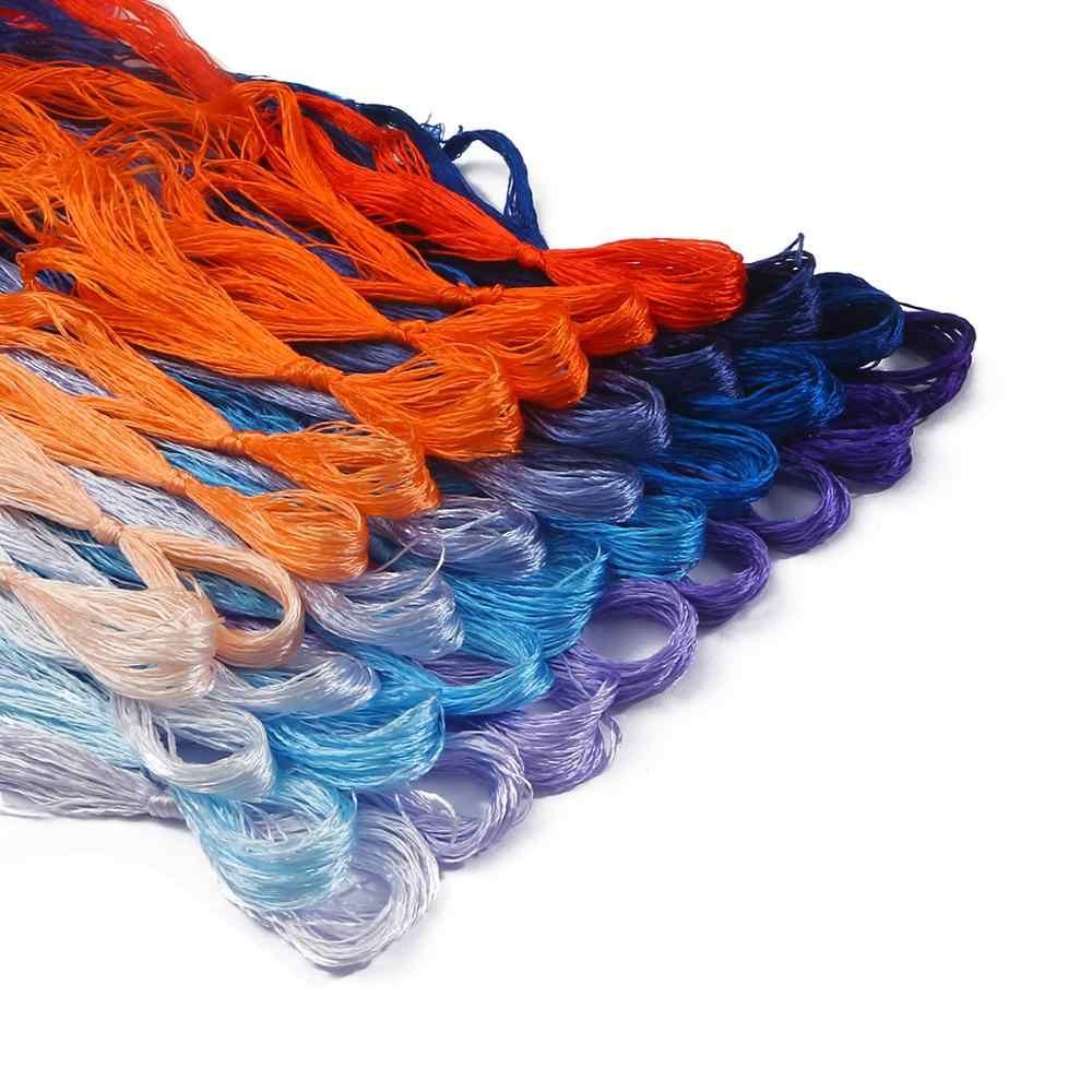 8 sztuk/partia 20 metrów Mix kolory ściegu trwałe Birght kolory bawełna nici do haftu szycia nici zestaw narzędzi do szycia