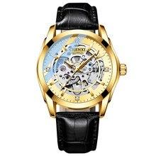 CHENXI 8821 Herren Automatische Mechanische Armbanduhr Wasserdicht Luxus Business Leder Uhr Tourbillon Herren Armbanduhren