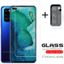 2 in 1 protective glass forhuawei honor V30 view 30 pro v 30 screen protector tempered glass for huawei honor v30 v 30 pro glass(China)