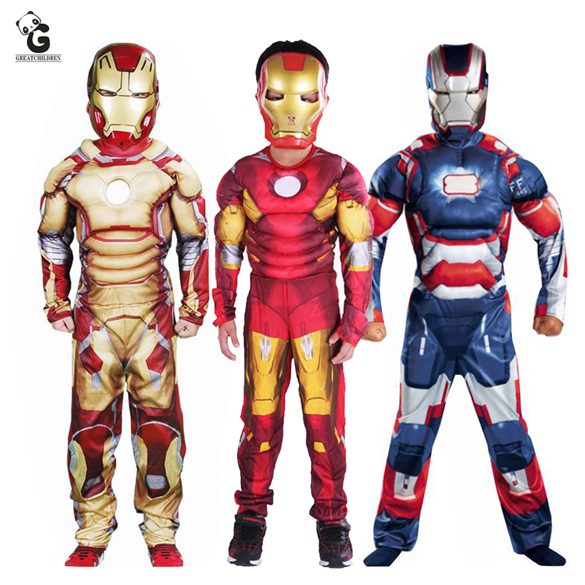 Детские костюмы Железного человека, костюмы для косплея мальчиков, костюм супергероя для Хэллоуина для детей, реквизит из фильма Железного ...