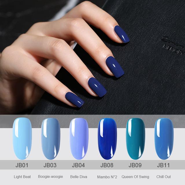 60 Colors Blue Series Gel Nail Polish 6ml