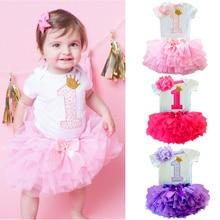 Платье принцессы для маленьких девочек; Одежда для первого дня рождения; Вечерние платья для малышей; Детские платья на крестины; Infantil Menina