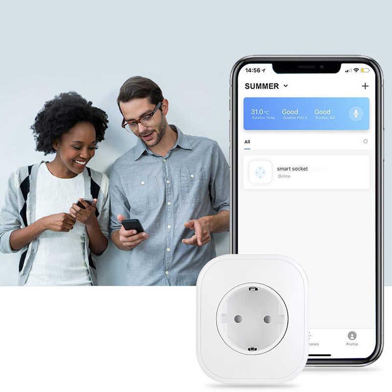 Умный Wi-Fi разъем приложение дистанционное управление розетка голоса синхронизации домашней розетки переключатель DTT88