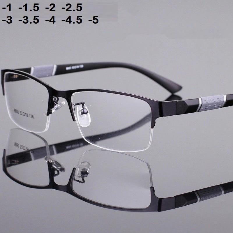 -1 -1.5 -2 -2.5 -3 -3.5 -4 -4.5  Myopia Glasses Men Retro Metal Frame Square Students Myopia Glasses Frame For Women 2020