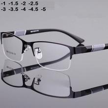 -1-1 5-2-2 5-3-3 5-4-4 5 okulary dla osób z krótkowzrocznością mężczyźni metalowa oprawa retro Square studenci okulary dla osób z krótkowzrocznością rama dla kobiet 2020 tanie tanio ShangeWFJia Kobiety Stop Okulary akcesoria Stałe FRAMES
