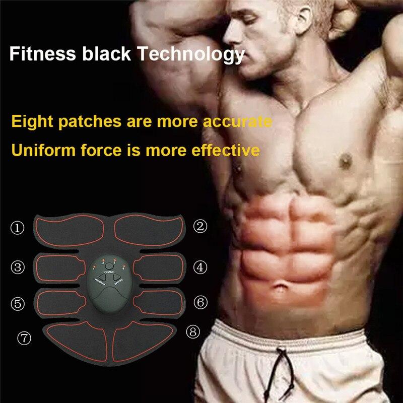 EMS do ćwiczenia mięśni inteligentny ABS przyrząd do treningu mięśni brzucha Fitness ciała kształtowanie masaż Patch odchudzanie masażu Unisex