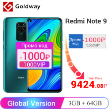 Global Version Xiaomi Redmi Note 9 3GB 64GB / 4GB 128GB Smartphone Helio G85 Octa Core 48MP Quad Rear Camera 6.53″ 5020mAh
