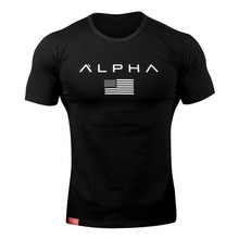 Cotton Breathable Mens Short Sleeve Fitness T-Shirt