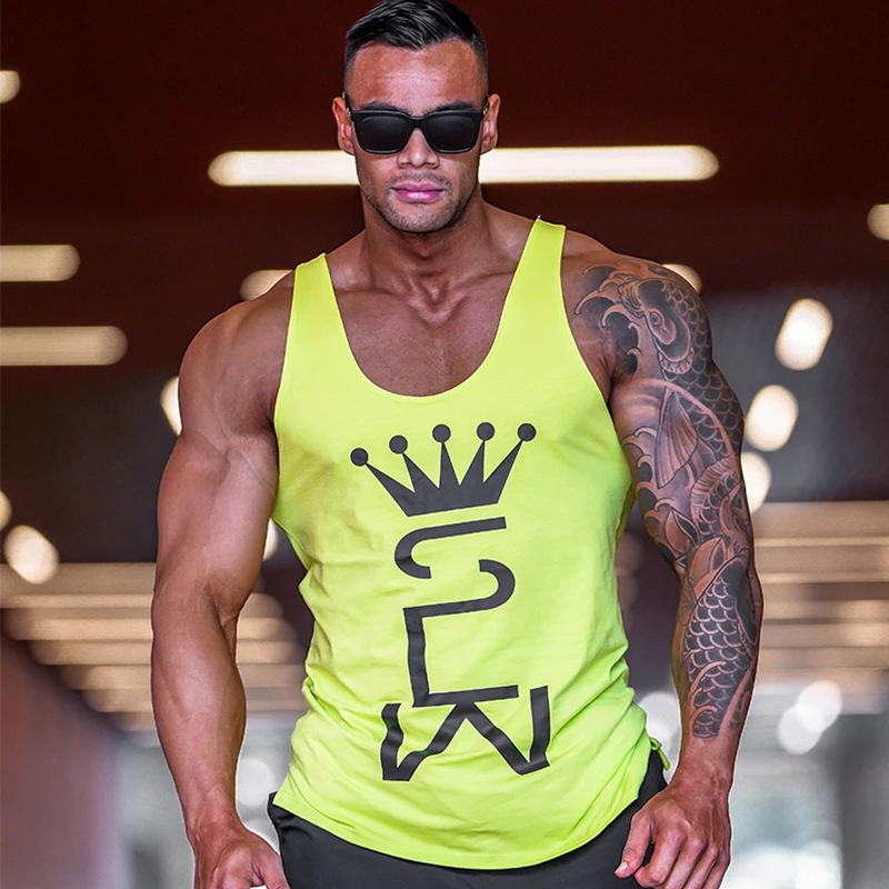 Mens Tank Tops Shirt Gym Tank Top Fitness Clothing Vest Sleeveless Cotton Man Canotte Bodybuilding Hombre Man Clothes Wear