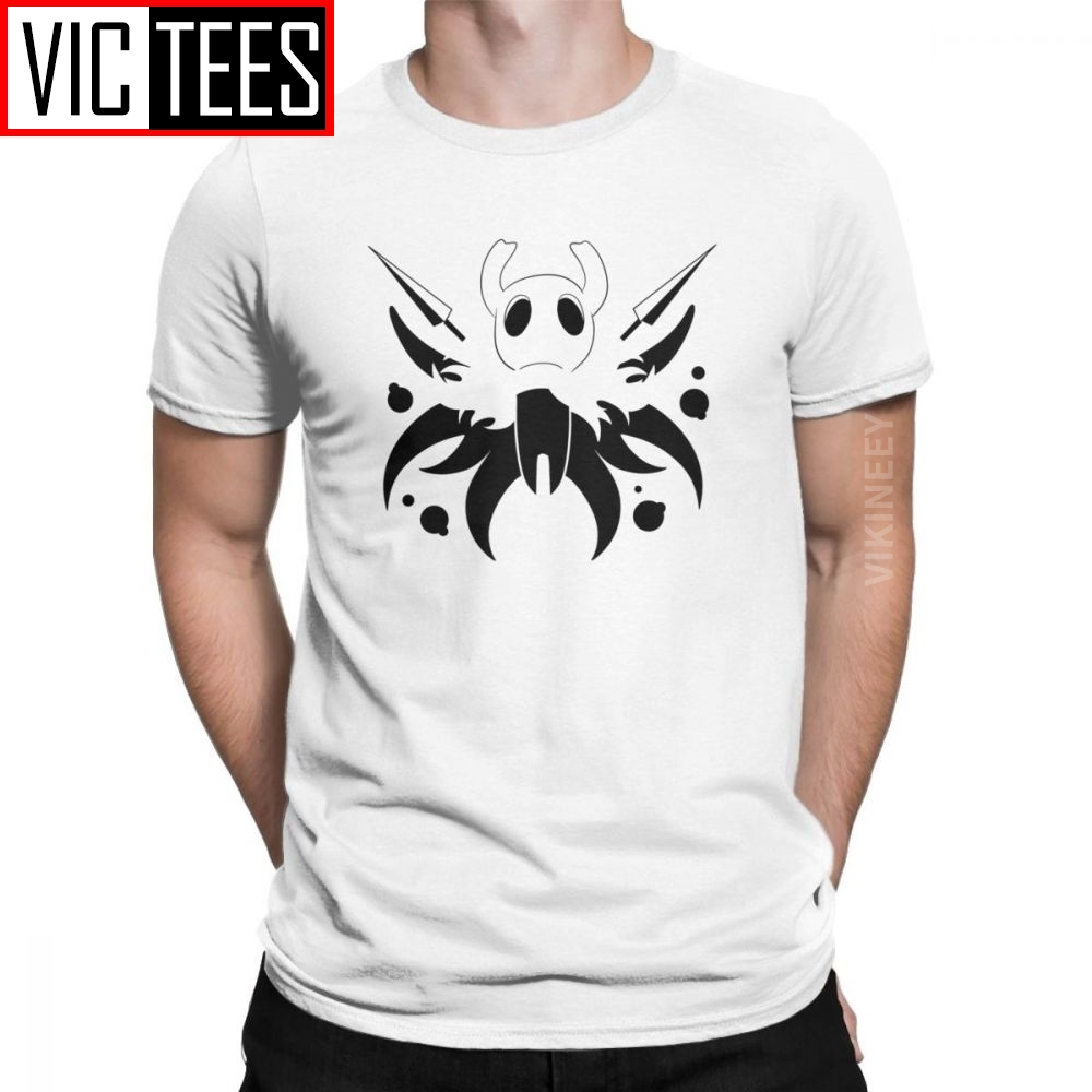 Hero Of Dirtmouth Hollow Knight Tshirt Men Skull Video Game Casual Pure Cotton T Shirt Winter Camisas Hombre