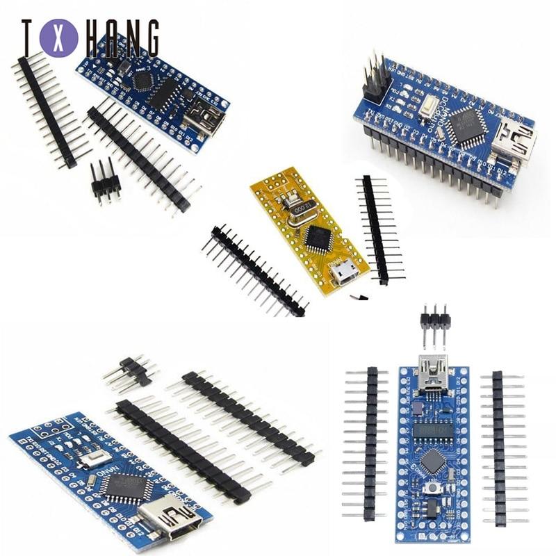 Mikrokontroler Nano V3.0 ATmega168 / 328P / FT232 3.3 / 5V 16M dla Arduino ATF z elektroniką kompatybilną z bootloaderem
