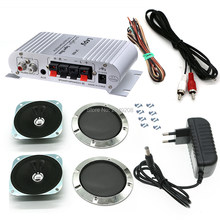 LP808 HiVi Stereo Amplifier + 12V Power Adaptor + 4 Inch Speaker + Kabel + Sekrup untuk Arcade Kabinet mesin Permainan Audio Kit DIY(China)