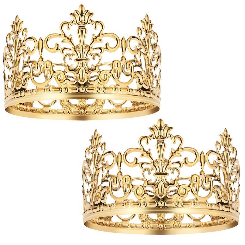 Новинка, модная прочная элегантная Тиара для украшения торта в виде короны, для свадьбы, дня рождения, помолвки, вечерние украшения для детс...
