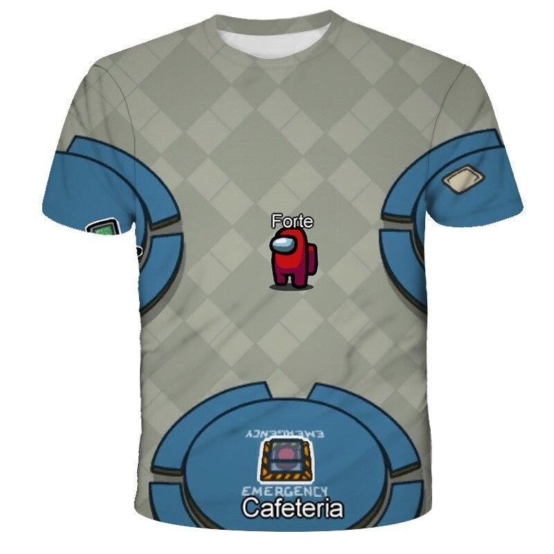 Boys Among Us Game T Shirt Kids 3D Print Cartoon Red T-Shirt Funny For Girls Child T-Shirt Children Clothes Tops Baby Tshirts-2