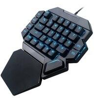 K50 Rgb Com Fio Teclado Gaming Teclado 35 Chaves One-Handed Azul Interruptor Led Backlit Teclado Mecânico