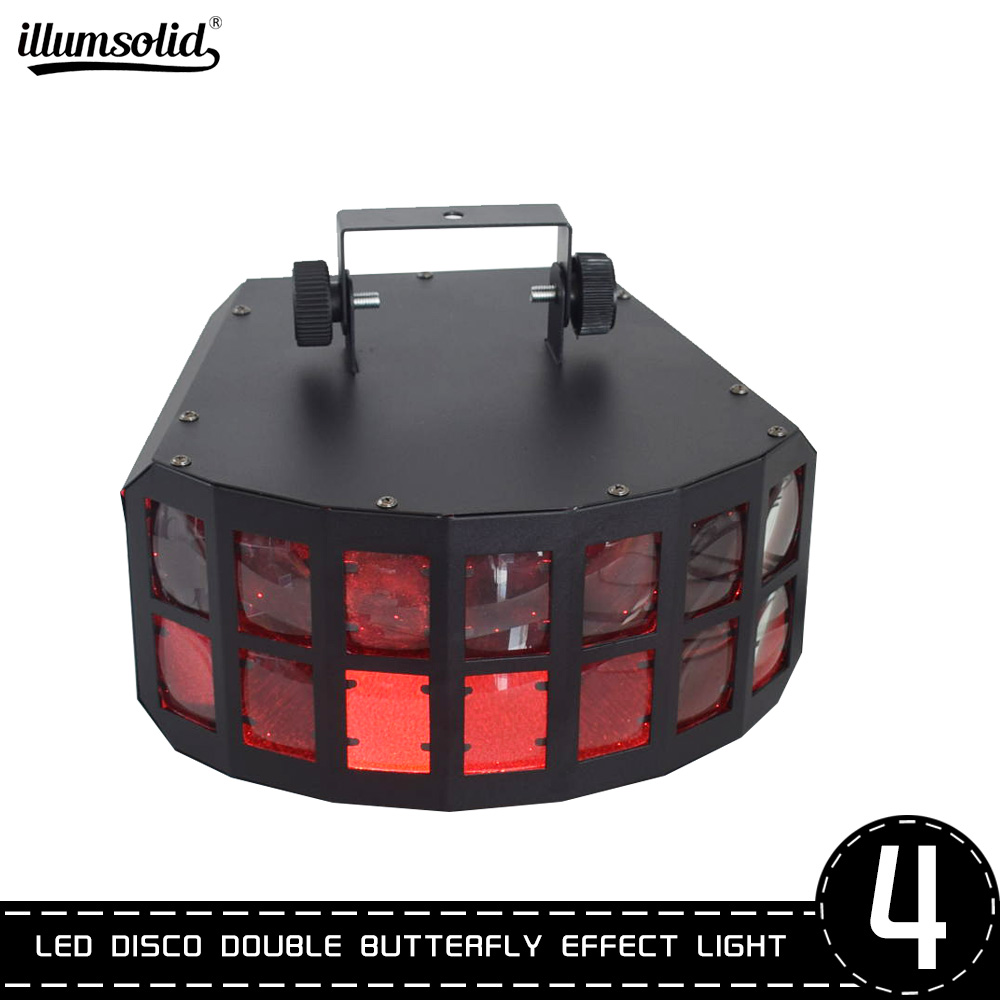 Multi Color Led Double Butterfly Party Stage Dj Disco Effect Light Dmx512 Control Christmas Laser Projector 4pcs/lot