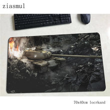 World of tanks de souris gamer 700x400x3mm tapis de souris grand ordinateur portable tapis de bureau 3d padmouse jeux pc gamer tapis gamepad(China)