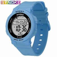 SYNOKE mode 50M étanche étudiants enfants montres enfants garçons filles alarme numérique LED Date décontracté Sport montre-bracelet